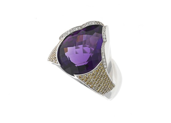 Pear-cut Amethyst Ring