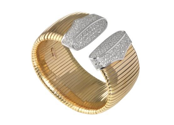 Pink gold tubogas bracelet