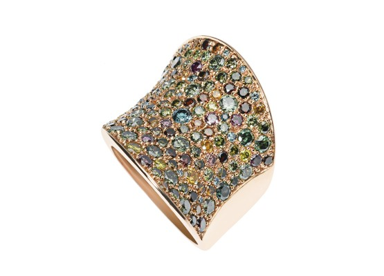 Coloured diamonds Ring