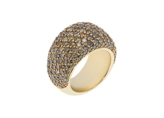 Brown Diamonds Pavé Ring