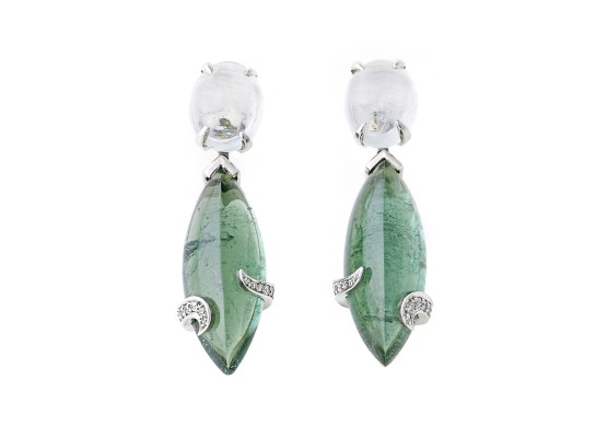 Aquamarines & tourmalines Earrings