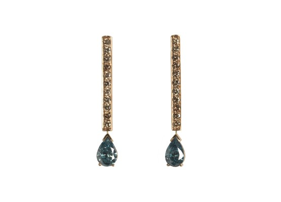 Blue teardrop-cut diamonds Earrings