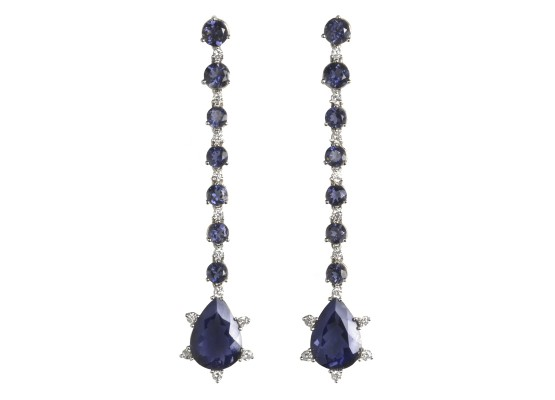 Iolite & diamonds Earrings