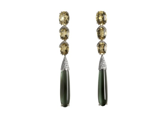 Beryl & green tourmaline Earrings