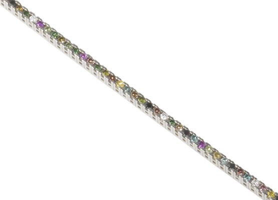 coloured diamonds Bracelet