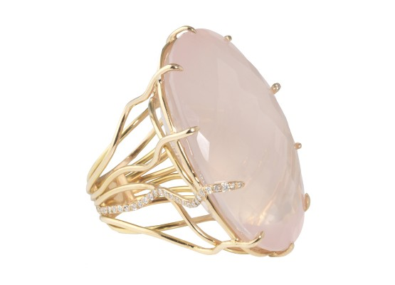 XXL Pink Quartz Ring