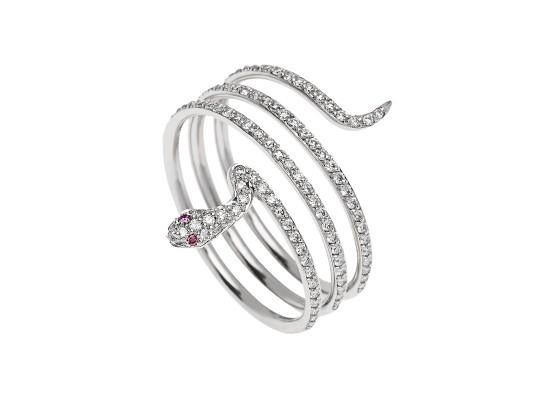 anillo serpiente minimal