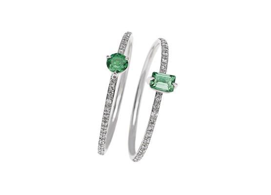 anillos esmeralda minimal
