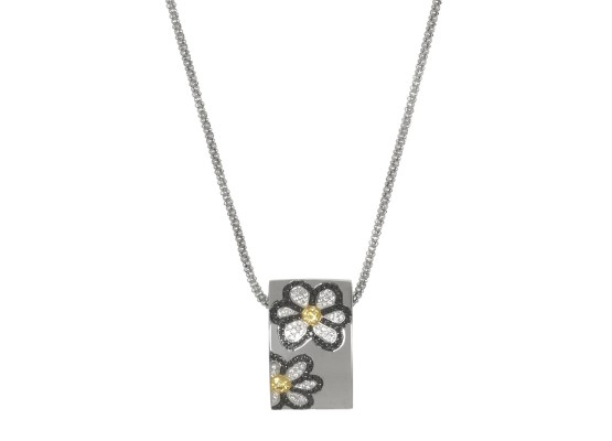 Diamonds Daisy Flower Pendant