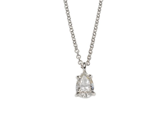 Pear-cut Pendant 0.65ct
