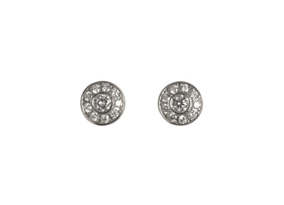White diamonds Studs Earrings