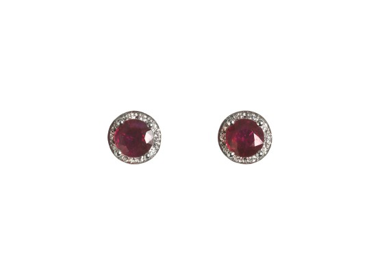 Rubies Studs Earrings