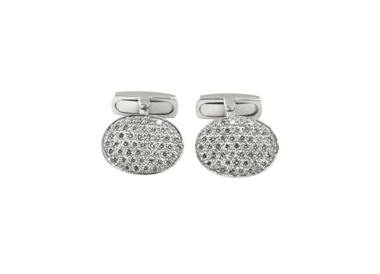 Cufflinks white diamonds