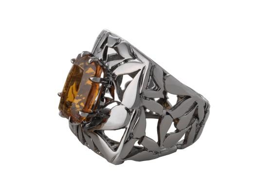 Citrine motif Ring