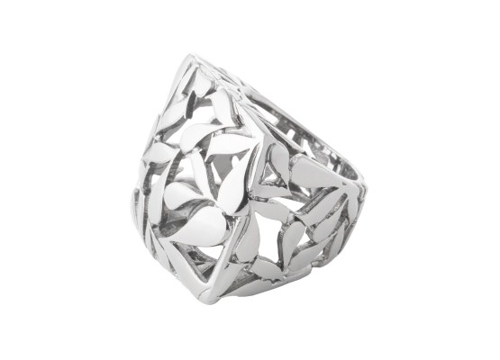 Square Ring motif rhodium