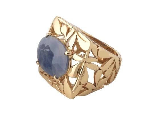 Blue sapphire motif ring