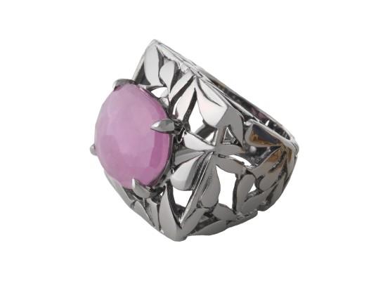 motif cuadrada zafiro rosa