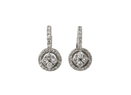 Diamond Earrings English Clasp