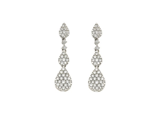 Teardrops Earrings White Diamonds