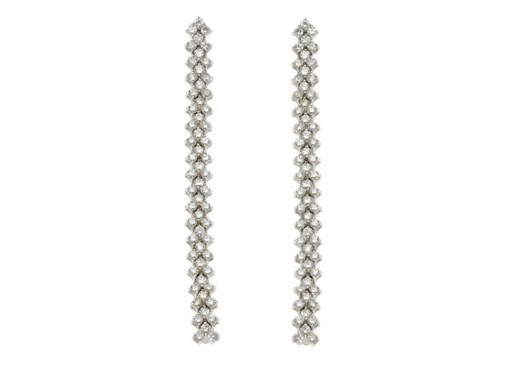 Long Earrings White Diamonds
