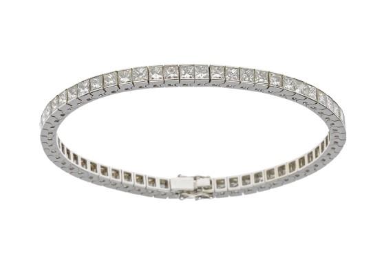 princess-cut Rivière bracelet