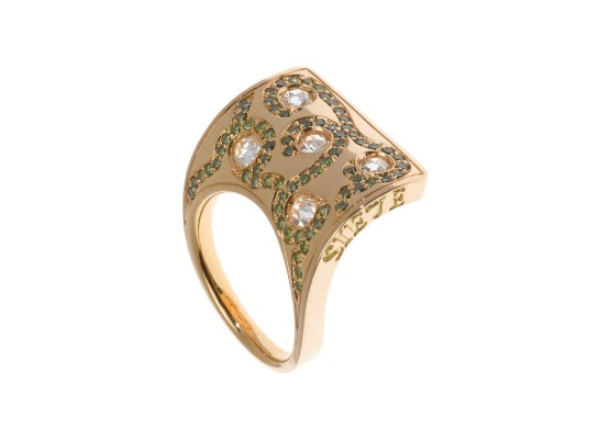 Sail Ring yellow gold & diamonds