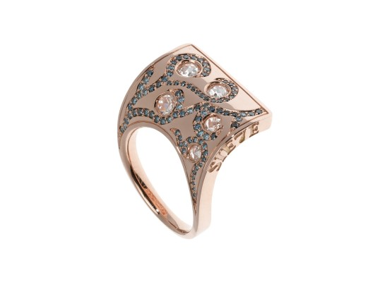 Sail Ring pink gold & diamonds