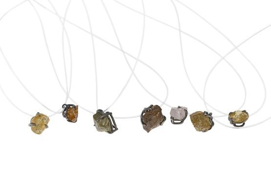 colgantes diamantes en bruto