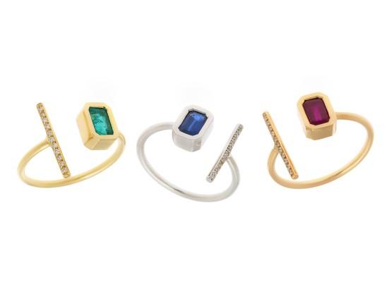 anillos abiertos 3 colores