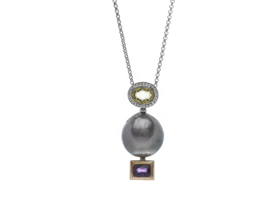 Amethyst beryl and tahitian pearl pendant sie7e alta joyera amethyst beryl and tahitian pearl pendant essentials necklaces necklaces aloadofball Choice Image